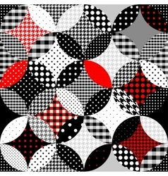 Geometric patchwork in the retro style vector