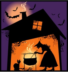 halloween supper vector image