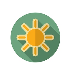 Sun retro flat icon meteorology weather vector