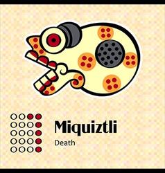 Aztec symbol miquiztli vector