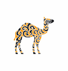 A camel in oriental patterns vector