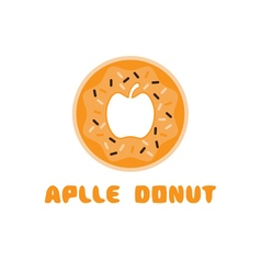 Apple donut negative space concept vector
