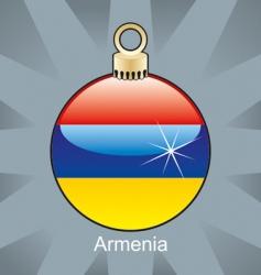 armenia flag decoration vector image