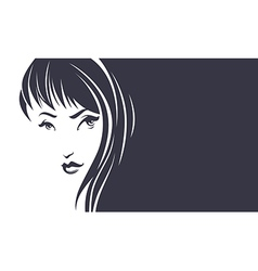 beauty hair banner vector image vector image