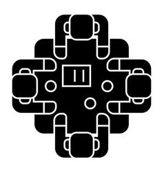 business meeting - talks - brainstorm icon vector image