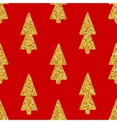 Christmas tree red seamless background vector