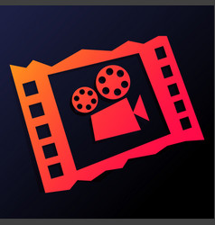 Cinema red icon vector