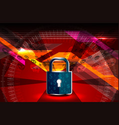 cyber security padlock vector image vector image