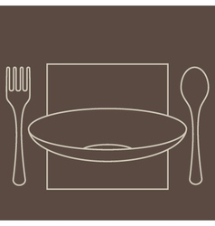 Forkspoonplate vector