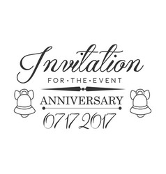 Graduation anniversary party black and white vector