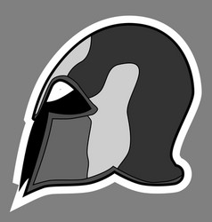Greek helmet vector