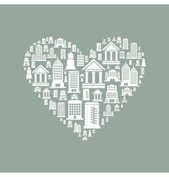 Heart the house2 vector