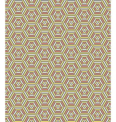 Hexagonal geometrical seamless pattern vector image