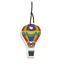 Hot air balloon tag or label icon image vector