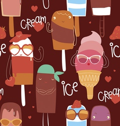 Ice cream fashion seamless pattern vector
