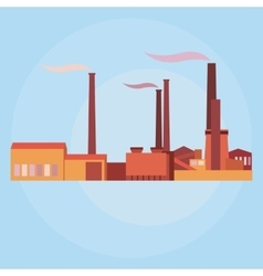 industrial buildings plants and factories vector image vector image