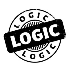 Logic rubber stamp vector