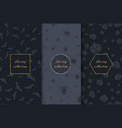 Luxury backgrounds for halloween vector