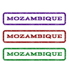 Mozambique watermark stamp vector