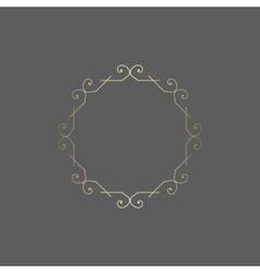 Ornate golden ornament for decoration vector image vector image