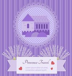 Postcard provence vector