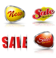 Sale and new banner set vector image