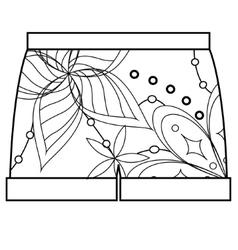 Shorts coloring vector image vector image