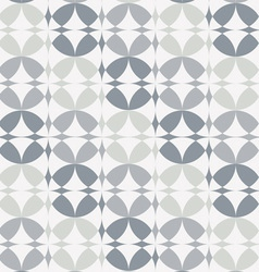 Silver Infinity Circles Seamless Pattern vector image
