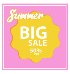 Summer sale banner design vector