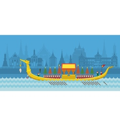 Thailand royal barge vector