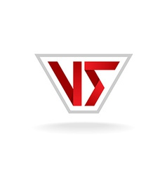 Versus sign logo vector image