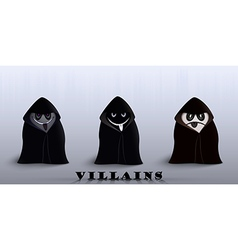 Villains in capes vector