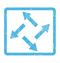 Centrifugal arrows icon rubber stamp vector
