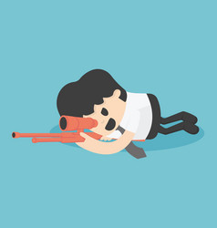 Concept businessman sneak attack bloodiest shoot vector
