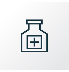 Drugs outline symbol premium quality isolated vector