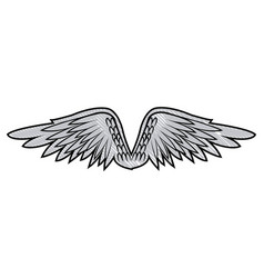 Graffiti wings feathers decoration design image vector