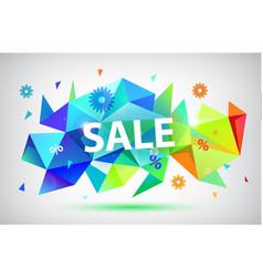 Sale - summer spring faceted 3d banner vector
