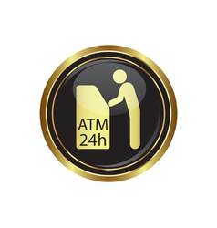 Atm icon button gold2 copy vector
