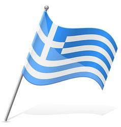 Flag of greece vector