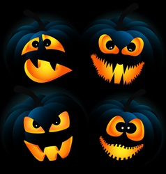 Dark pumpkins vector