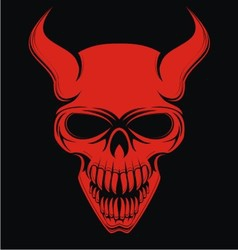 Red devil skulls vector
