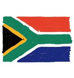 Flag of south africa handmade vector
