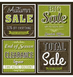 Square banners with sale offer vector
