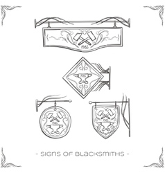 Signs of blacksmiths vector