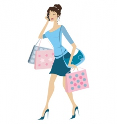 busy woman vector image