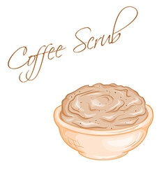 Hand drawn of isolated coffee body scrub vector