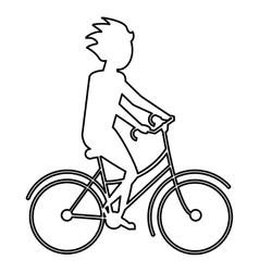 Person riding a bike vector
