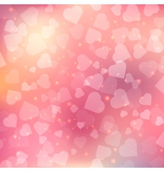 Abstract bokeh heart background vector image