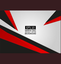 abstract geometric gray black and red color with vector image vector image