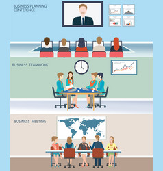 business meeting dasign vector image